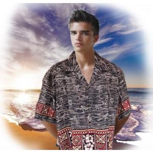 Tapa Palms Aloha Shirt
