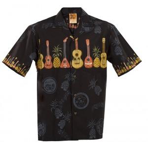 Hawaiian Ukulele  Aloha Shirt